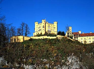 Hohenschwangau Castle, Allgaeu, Upper Bavaria, Germany, Europe