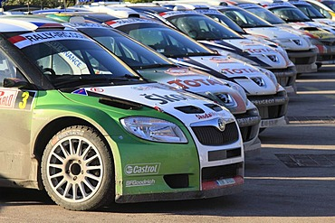Presentation of the racing cars of the Monte Carlo Rally 2010, port of La Condamine, Monaco, Cote d'Azur, Europe