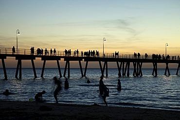 Sunset at the pier of Glenelg, Adelaide, South Australia, Australia