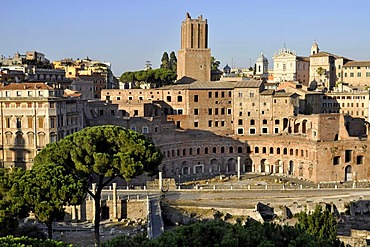 Torre delle Milizie, Trajan's markets, Santi Domenico e Sisto Church, Via Alessandrina, Rome, Lazio, Italy, Europe