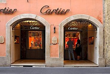 Cartier jewelry store, Via dei Condotti, Rome, Lazio, Italy, Europe