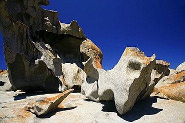 The famous Remarkable Rocks at Flinders Chase National Park on Kangaroo Island, South Australia, Australia