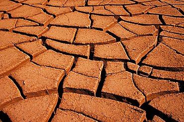 Parched earth, Salar de Atacama, Chile, South America