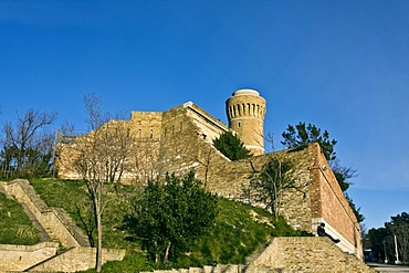 Old lighthouse of Ancona, 1860, in the urban Park Cardeto, on Mont Cardeto, also known as Francesco Sataglini Park, Ancona, Marche, Italy, Europe
