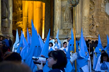 Penitents, Semana Santa, Holy Week, Palma de Majorca, Majorca, Balearic Islands, Spain, Europe