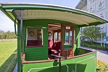 Steam train Feuriger Elias, narrow-gauge railroad, train, Prien, Chiemsee, Bavaria, Germany, Europe