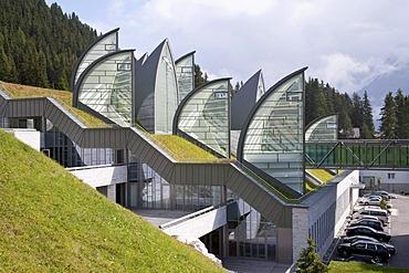 Bergoase spa of the Grand Hotel Tschuggen, architect Mario Botta, luxury hotel, Arosa, Graubuenden or Grisons, Switzerland, Europe