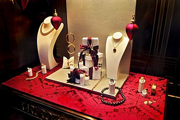 Display of jewelry in Theatinerstrasse, Munich, Bavaria, Germany, Europe