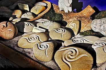 Muenchner Freiheit, Schwabing Christmas Market, spiral stones, Munich, Bavaria, Germany, Europe