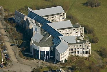 Aerial view, Privatuniversitaet Witten private university, Herdecke Witten, Ruhrgebiet region, North Rhine-Westphalia, Germany, Europe