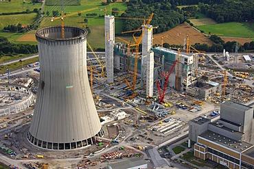 Aerial view, RWE Power Kraftwerk Westfalen power plant, Schmehausen, Hamm, Ruhrgebiet region, North Rhine-Westphalia, Germany, Europe
