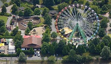 Aerial view, ferris wheel, fair, Centropark, Neue Mitte area, Osterfeld, Oberhausen, Ruhrgebiet region, North Rhine-Westphalia, Germany, Europe
