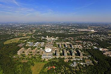 Aerial photo, RUB Ruhruniversitaet university of Bochum, Stiepel, Bochum, Ruhrgebiet region, North Rhine-Westphalia, Germany, Europe