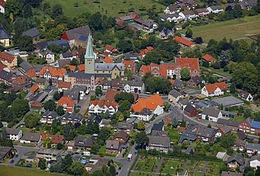 Aerial view, quarter, Rhynern, Hamm, Ruhrgebiet region, North Rhine-Westphalia, Germany, Europe
