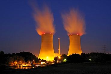 Grafenrheinfeld nuclear power station, Bavaria, Germany, Europe