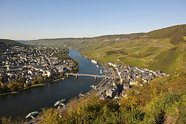 Bernkastel-Kues on the Moselle river, Rhineland-Palatinate, Germany, Europe