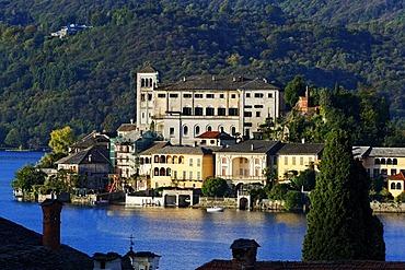 San Giulia island, Lago d'Orta lake, Piedmont, Italy, Europe