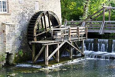 Oil mill, 18th century, at Schloss Brake castle, Lemgo, North Rhine-Westphalia, Germany, Europe