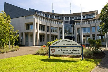 The Kreishaus county administration of the Hochsauerlandkreis county, Meschede, Sauerland region, North Rhine-Westphalia, Germany, Europe