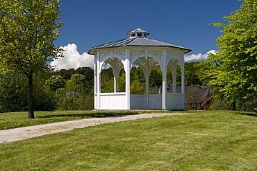 Pavilion in Seepark, Baltic Sea resort town of Sellin, Isle of Ruegen, Mecklenburg-Western Pomerania, Germany, Europe
