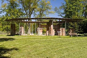 Pheasant house in the castle gardens of Putbus, Ruegen island, Mecklenburg-Western Pomerania, Germany, Europe