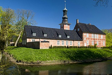 Husumer Schloss palace and palace gardens, Husum, North Friesland, Schleswig-Holstein, Germany, Europe