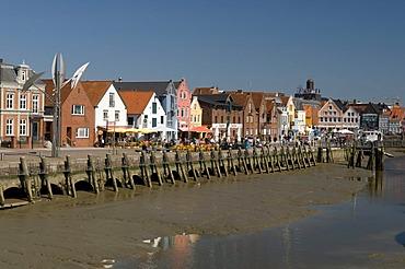 Inland harbour, Husum, North Friesland, Schleswig-Holstein, Germany, Europe