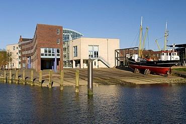 Shipyard of Husum, Husum, North Friesland, Schleswig-Holstein, Germany, Europe