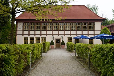Hunting lodge in the spa Bad Iburg, Osnabruecker Land region, Lower Saxony, Germany, Europe