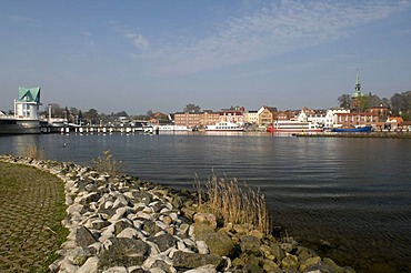 Kappeln on the Schlei river, Schleswig-Holstein, Germany, Europe