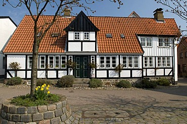 Half-timbered house, Kappeln, Schlei, Schleswig-Holstein, Germany, Europe