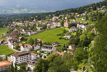 Overlooking Vaduz, Principality of Liechtenstein, Europe