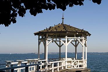 Pavilion on the pier, Bregenz, Lake Constance, Vorarlberg, Austria, Europe
