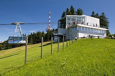 Mountain station of the Pfaenderbahn aerial tramway, 1064m, Bregenz, Lake Constance, Vorarlberg state, Austria, Europe