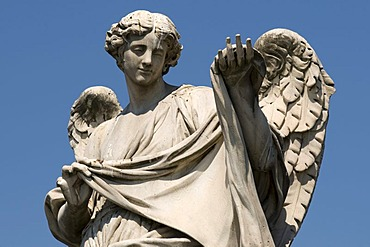Angel statue on the Ponte Sant'Angelo bridge, Rome, Italy, Europe