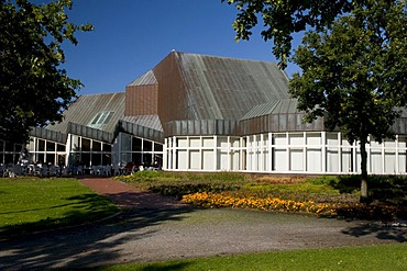 Therapy center in the spa gardens, Doese, North Sea resort Cuxhaven, Lower Saxony, Germany, Europe