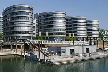 Office building in the Innenhafen Duisburg harbor, Route der Industriekultur Route of Industrial Heritage, Essen, Ruhrgebiet region, North Rhine-Westphalia, Germany, Europe
