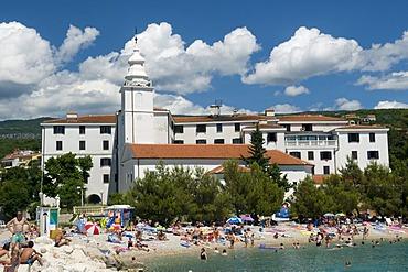 Townscape with Castle Hotel, Crikvenica, Kvarner Gulf, Croatia, Europe