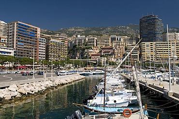 Port and view of Monte Carlo, Cote d'Azur, Monaco, Europe