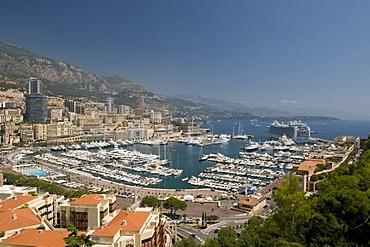 View of the harbor, Monte Carlo, Cote d'Azur, Monaco, Europe
