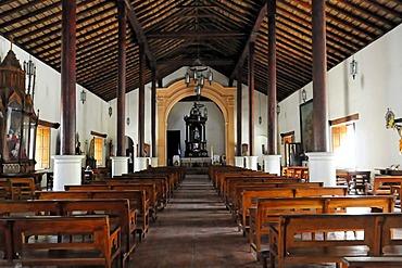 Inside the church of San Jeronimo, Masaya, Nicaragua, Central America