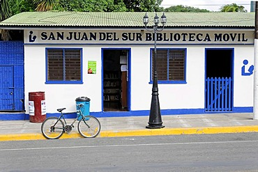 Front of a house in San Juan del Sur, Nicaragua, Central America
