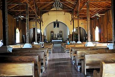 Interior, Church of San Juan del Sur, Nicaragua, Central America