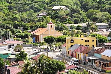 Detail, partial view of the Church of San Juan del Sur, Nicaragua, Central America