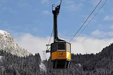 Cabin of the Nebelhorn Cable Car, Nebelhorn, 2224m, Oberstdorf, Allgaeu, Bavaria, Germany, Europe