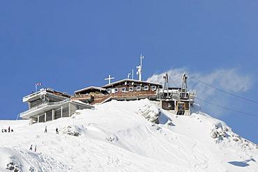 Mt Nebelhorn summit station, 2224m, Oberstdorf, Allgaeu, Bavaria, Germany, Europe