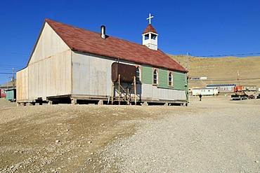 Church at Resolute Bay Inuit village, Cornwallis Island, Northwest Passage, Nunavut, Canada, Arctic