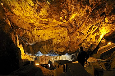 Interior of Ali Sadr Cave, Hamadan, Hamedan, Persia, Iran, Asia