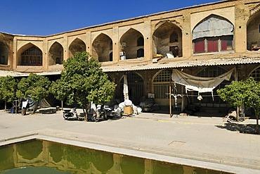 Historic caravansary in the bazar of Shiraz, Fars, Persia, Iran, Asia