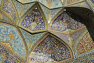 Colorful faience tiles at the Friday or Congregational Mosque of Hamadan, Hamedan, Iran, Persia, Asia